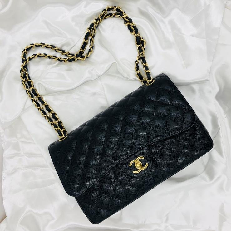 47cadb9d7c1d Chanel Classic Jumbo Shoulder Bag with GHW in Caviar